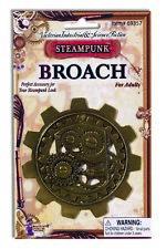 Antique Bronze Style Steampunk Broach Gears & Rivets Prop Costume Jewelry