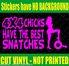 New 200mm Funny Sexy Cute Girl Car Stickers 4x4 CHICKS For 4wd BNS Ute or Wagon