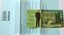 1998 The Tonight Show With Jay Leno Chicago Ticket Stub w/Letter Rosemont