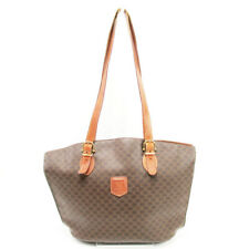 CELINE Tote Bag Macadam PVC  Leather  Used Auth T10151