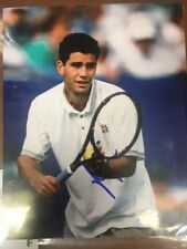 TENNIS LEGEND PETE SAMPRAS SIGNED 8X10 PHOTO COA US OPEN WIMBLEDON GRAND SLAM D
