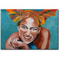 NOVAARTE Acryl Bild Gemälde Abstrakte Malerei Kunst ORIGINAL Art Modern Mädchen