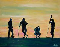 GOLF Original Art PAINTING DAN BYL Masters Contemporary Modern Fine Canvas 4x5ft