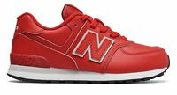 New Balance Kid's 574 Big Kids Male Shoes Red with Grey