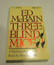 THREE BLIND MICE by Ed McBain -audiobook 1991 -2 cassettes - 3 hrs - EC