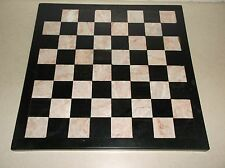 VINTAGE MARBLE PINK/GREY AND BLACK CHESS BOARD & ONYX AZTEC PIECES