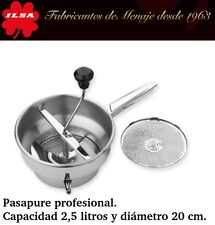 PASAPURE PROFESIONAL DE ACERO INOXIDABLE 18/10 ILSA DOS DISCOS. pasapures chino