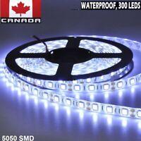 LED Strip Lights 5m 5050 SMD Cool White Flexible Bright 300 LEDs 12v Waterproof