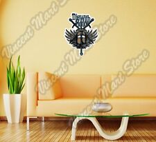 """Die With Honor Knight Helmet King Gift Wall Sticker Room Interior Decor 18""""X25"""""""