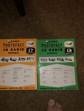 Two From 1968 Vintage Sams Photofact Cb Radio Vol 17 &18