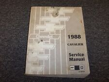1988 Chevy Cavalier Sedan Shop Service Repair Manual Book VL RS Z24 2.0L 2.8L V6