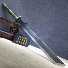 Handmade High Manganese Steel Blade Sword Sharp Chinese Broadsword Da Dao