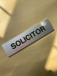 Solicitor Metal Sign