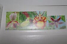 """FRANCOBOLLI STAMPS FRANCIA  FRANCE 2005 """"FLOWERS - ORCHID"""" MNH** SET (CAT.10)"""