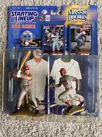 1998 STARTING LINEUP JOHNNY BENCH / JOE MORGAN CLASSIC DOUBLES Cincinnati Reds