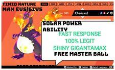 Pokemon sword shield  shiny charizard GIGANTAMAX g-max  6ivs + masterball