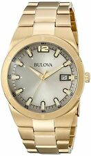 Bulova Men's 97B137 Classic Gray Dial Gold Tone Stainless Steel Watch