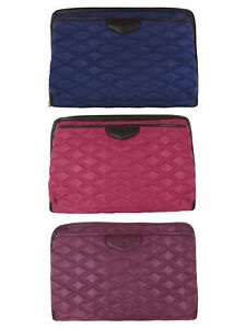 """Knomo Fitzrovia Collection Foley Quilted 11"""" City Tablet Sleeve Bag"""