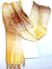 Echarpe Foulard Châle Étole Femme Style Pashmina blanche blanc beige marron