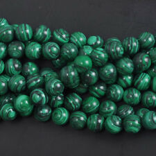 Wholesale Natural Malachite Gemstone Round Spacer Loose Stone Beads Charm 6MM