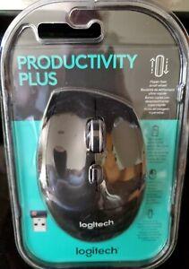 Logitech Productivity Plus Mouse 7 Buttons Vertical Horizontal Scrolling