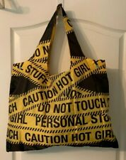 Benga Ultra-lightweight Folding 3 in 1 Shopping Tote in Caution Tape Print
