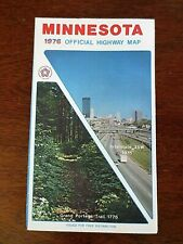 1976 Minnesota Official Highway Department State Road Map Tourist Information MN