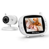 3.5 inch Baby Monitor Video Digital Camera Night Vision Temperature Monitoring E