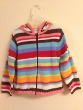 Gymboree Girls Sweater 3T Striped with Hood