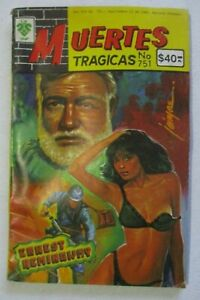 MUERTES comic ERNEST HEMINGWAY novelist ADVENTURER old man SEA NOBEL literature