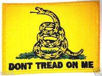 """GADSDEN FLAG"" DON'T TREAD ON ME""...Pro Gun Anti Obama Patch  P1327 E"