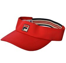 Fila Adults Red M Visor Cap BNTW Brand New Mens Womens Tennis Golf Hat NWT bj