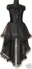 Corset Dress Gothic Black Prom Halloween Custom Made US Size 20-26 Plus Size1537