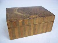 Regency Box Circa 1810 Decorated With Straw Work In A Sunburst Pattern