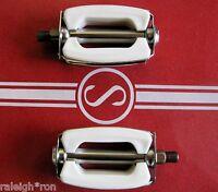"New White 1/2"" Bicycle BOW Pedals fits Schwinn Stingray Banana Seat Muscle Bike"