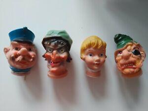4 x Handpuppe Kasperlepuppe Kopf Köpfe Polizist Gretel Hexe Räuber