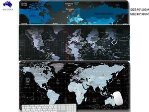 90*40/80*30 World Map Mousepad Large Big Size Gaming Computer Mouse Pads  Mat