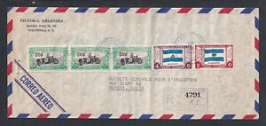 GUATEMALA 1954 SEPECIAL EXPRESS ISSUES ON AIRMAIL COVER TO GENEVA SWITZERLAND