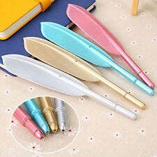 Wing Feather Gel Pen Ball Point Ballpoint Students Writing Stationery Random