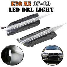 BMW X5 E70 07-10 Led DRL Daytime Running Light 18w White Front Bumper Fog Lamp