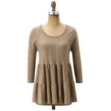 Anthropologie Knitted & Knotted Tiered Swing Sweater Size S