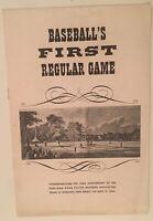 Baseball's First Regular Game Hoboken NJ 1846-1946 100th Anniversary 9 Man Game