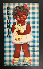 """""""PETUNIA AND PATCHES"""" 1937 SAALFIELD UNCUT PAPER DOLLS VINTAGE"""