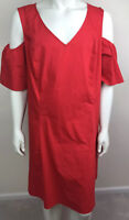 NWT Womens Dress Plus Size 22/24 Lane Bryant Red Cold Shoulder A Line Skirt