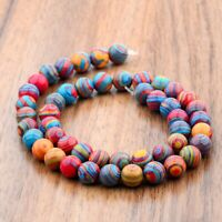 Douvei Color Natural Stone Gemstone Loose Round  Beads Bracelet DIY Handmade