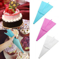 4 Size Silicone Reusable Icing Piping Cream Pastry Bag DIY Cake Decorating Tools