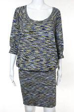 BCBG Max Azria Multi-Color Abstract Silk Cotton Sweater Dress Size Small