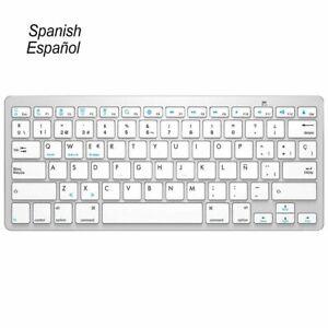 Universal Wireless Bluetooth Keyboard Ultra Slim Hebrew Spanish English Russian