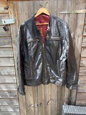 superdry leather jacket Speedway Speedsport Size XXL