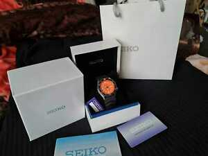 *MINT* RARE Seiko SKX 011 J FULL KIT + box papers! Diver's watch Orange JAPAN